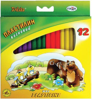 Пластилин Гамма ПЧЕЛКА 12 цветов 280032Н