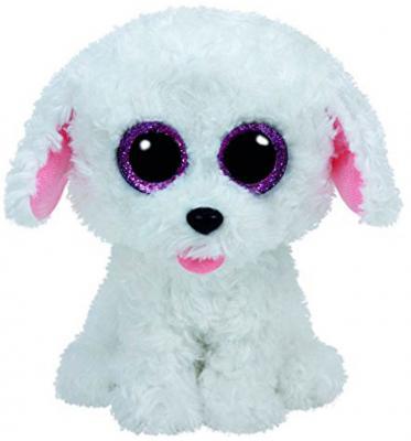 Мягкая игрушка щенок TY Щенок белый Pippie искусственный мех текстиль белый 15 см 0008421371754