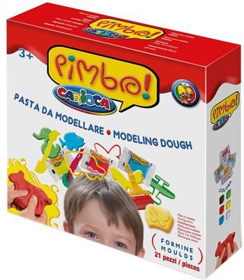 Набор для лепки Universal CARIOCA PIMBO 6 цветов 10 формочек, ролик + аксессуары 21 предмет 40177
