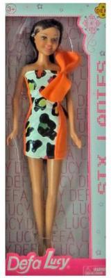 """Кукла Defa Lucy """"Модная"""" 29 см в платье с оранжевым бантом"""