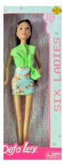 Кукла Defa Lucy Six Ladies в зеленом платье 8316green кукла defa lucy гимнастка 8352