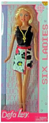 """Кукла Defa Lucy """"Модница"""" 29 см в черно-белом платье"""