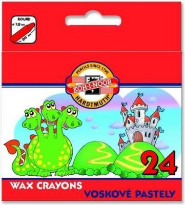 Восковые мелки Koh-i-Noor 8234/24 24 цвета 24 штуки от 6 лет восковые мелки koh i noor trio wax 12 штук 12 цветов