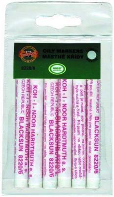 Мелки масляные Koh-i-Noor 8220/6 1 цвет 6 штук от 3 лет карандаши восковые мелки пастель koh i noor мелки масляные 6 цветов