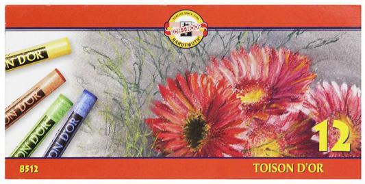 Мелки акварельные Koh-i-Noor Toison D'or 12 цветов 12 штук от 3 лет мелки школьные koh i noor 6 штук