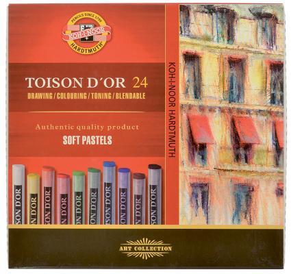 Мелки акварельные Koh-i-Noor Toison D'or 24 цвета 24 штуки от 3 лет 8514/24