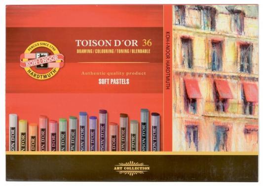 Мелки акварельные Koh-i-Noor Toison D'or 36 цветов 36 штук