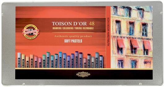 Мелки акварельные Koh-i-Noor Toison D'or 48 цветов 48 штук от 3 лет