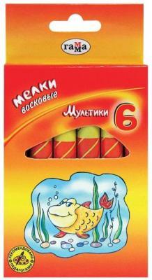 Восковые мелки Гамма Мультики 6 цветов 6 штук от 5 лет 261001
