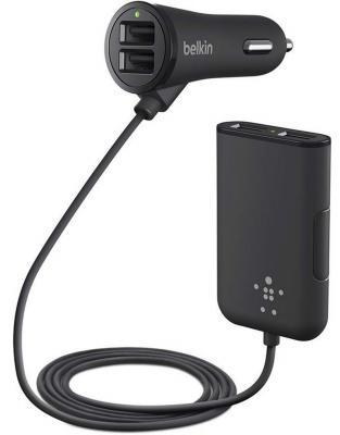 Автомобильное зарядное устройство Belkin F8M935bt06-BLK 4 x USB 2.4А черный