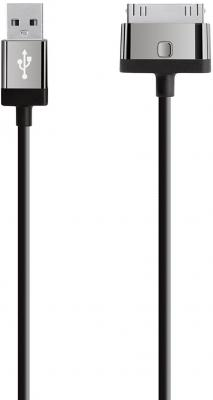 Кабель 30 pin 2м Belkin MIXIT круглый F8J041cw2m-BLK кабель 30 pin 1 2м belkin f8j043bt04 wht круглый белый