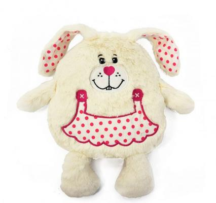 Грелка заяц MAXITOYS MT-MRT0414029 текстиль кремовый 19 см 4612735104302 мягкие игрушки maxitoys собака добряшка 47 см