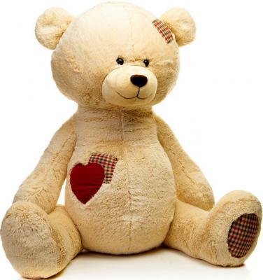 Мягкая игрушка медведь MAXITOYS МИШКА РОНИ искусственный мех синтепон бежевый 50 см 4612735095792