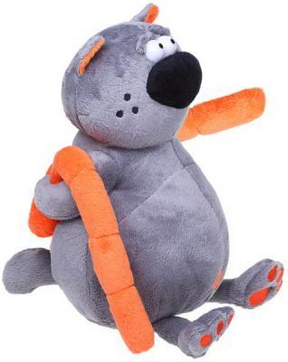 Мягкая игрушка кот MAXITOYS Котофей & Sosiska текстиль фиолетовый 24 см 4612735102087