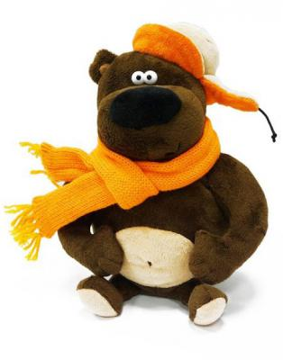Мягкая игрушка медведь MAXITOYS Просто MEDVED плюш коричневый 25 см 4612735102094