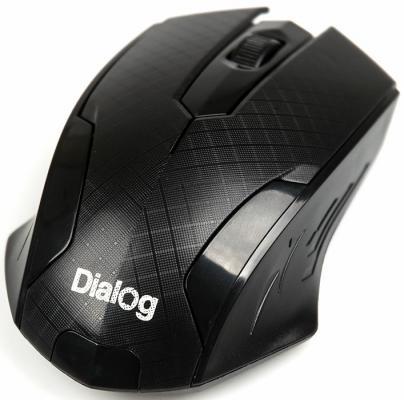 Мышь беспроводная Dialog Katana MROP-07U чёрный USB + радиоканал мышь nakatomi mon 07u black usb