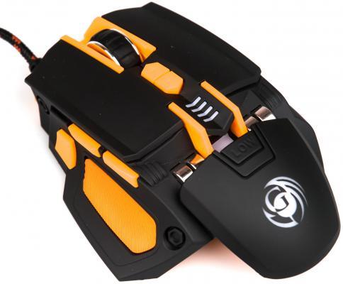 Мышь проводная Dialog Gan-Kata MGK-41U чёрный оранжевый USB геймпад dialog gan kata gp a16rf black
