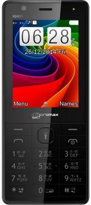 """Мобильный телефон Micromax X2401 черный 2.4"""" 200 Мб"""