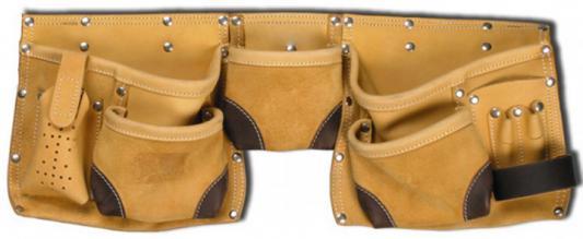 Пояс для инструмента Stayer Professional 11 карманов 2 скобы кожа 38520