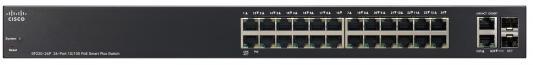 Коммутатор Cisco SF220-24-K9-EU управляемый 24 порта 10/100Mbps