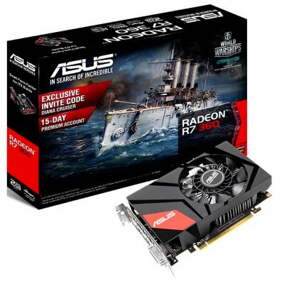 Видеокарта 2048Mb ASUS R7 360 PCI-E 128bit GDDR5 DVI HDMI DP HDCP MINI-R7360-2G Retail