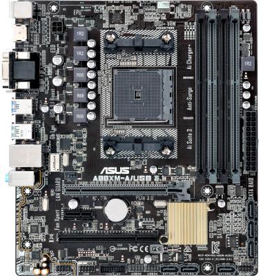 Мат. плата для ПК ASUS A88XM-A/USB 3.1 Socket FM2+ AMD A88X 4xDDR3 1xPCI-E 16x 1xPCI 1xPCI-E 1x 6xSATAIII mATX Retail