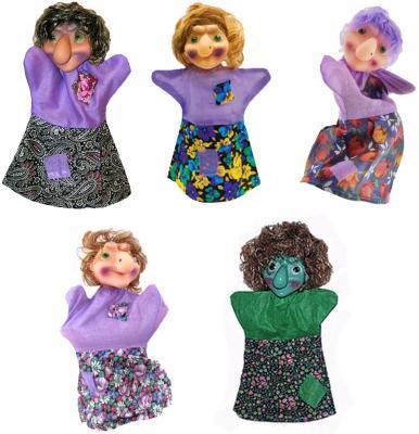Кукла на руку Русский стиль Баба Яга 26 см  11030