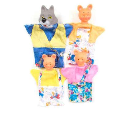 Кукольный театр Русский Стиль Три поросенка 4 предмета 11006 жирафики кукольный театр три поросенка 4 куклы