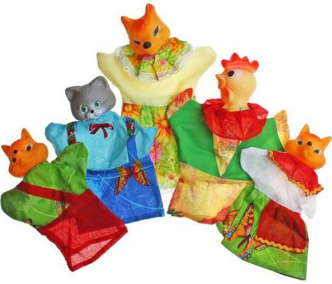 Кукольный театр Русский Стиль Кот, Петух и Лиса 5 предметов 11208 русский стиль набор кукольный театр три поросенка 4 персонажа в маленькой коробке 11255н