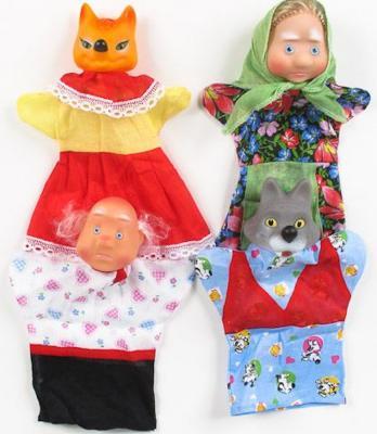 Купить Кукольный театр Русский Стиль Волк и Лиса 4 предмета 11250