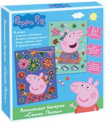 Набор для творчества РОСМЭН Peppa Pig: Аппликация бисером Пеппа от 7 лет 23865 росмэн peppa pig superstar