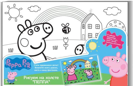 Набор для росписи по холсту РОСМЭН Peppa Pig от 5 лет 24675