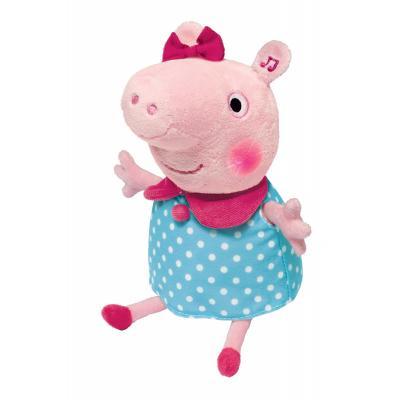 Мягкая игрушка свинка Росмэн Пеппа плюш розовый 30 см 4680274022487