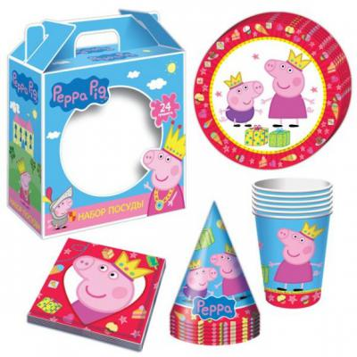 Купить Набор посуды Росмэн Пеппа-принцесса 24 предмета 28567