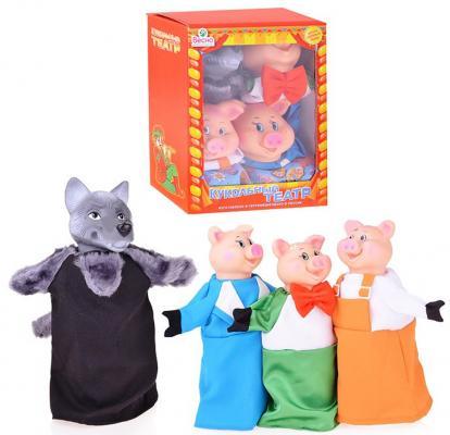 Кукольный театр Весна 4 персонажа с ширмой №2 5 предметов В2929