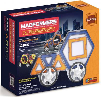 Магнитный конструктор Magformers XL Cruisers 32 элемента 63073/706001 магнитный конструктор magformers xl double cruiser set 42 706004