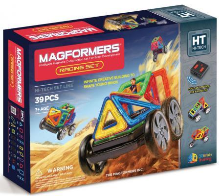 Магнитный конструктор Magformers Racing set 39 элементов 63131/707006 магнитный конструктор magformers space treveller set 35 элементов 703007