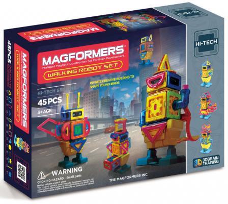 Магнитный конструктор Magformers Walking Robot 45 элементов 63137/709004 магнитный конструктор magformers space treveller set 35 элементов 703007