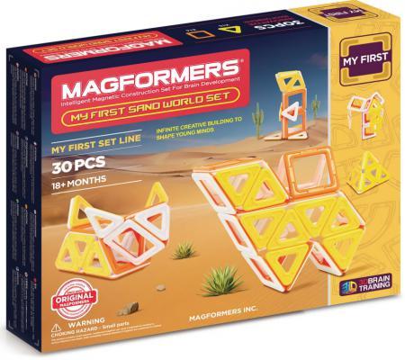 Магнитный конструктор Magformers My First Sand World set 30 элементов 702010 davis sarah sirett dawn my first learning library box my first world abc numbers hb