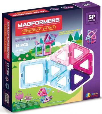 Магнитный конструктор Magformers Pastelle 14 элементов 704001