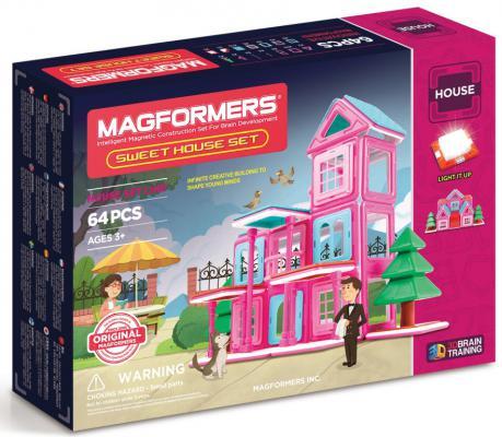 Магнитный конструктор Magformers Sweet House Set 64 элемента 705001 magformers 705001 sweet houseset magformers