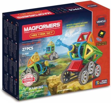 Магнитный конструктор Magformers Mini Tank Set 27 элементов 707010 магнитный конструктор magformers space treveller set 35 элементов 703007