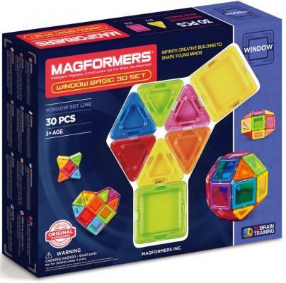 Магнитный конструктор Magformers Window Basic 30 элементов 714002 magformers магнитный конструктор window inspire 30 set