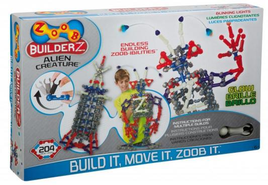 Конструктор ZOOB Glow Alien Creature 200 элементов 14002 конструктор zoob glow dinos 250 элементов 14004