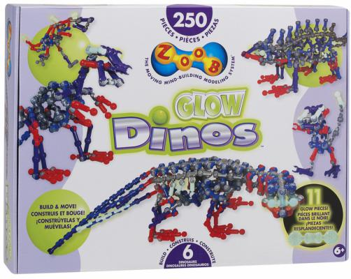 Конструктор ZOOB Glow Dinos 250 элементов 14004