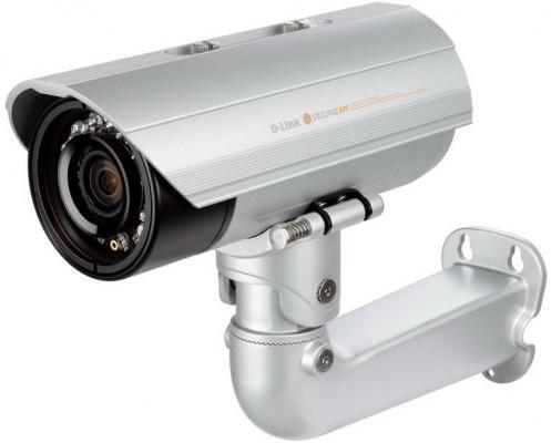 Камера IP D-Link DCS-7413/B1A CMOS 1/2.7 1920 x 1080 H.264 MJPEG MPEG-4 RJ-45 LAN PoE серебристый