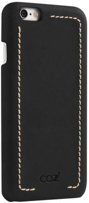 Накладка Cozistyle Leather Wrapped Case для iPhone 6S Plus чёрный CLWC6+010