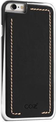 Чехол Cozistyle Leather Chrome Case для iPhone 6s серебристо-черный CLCC6010