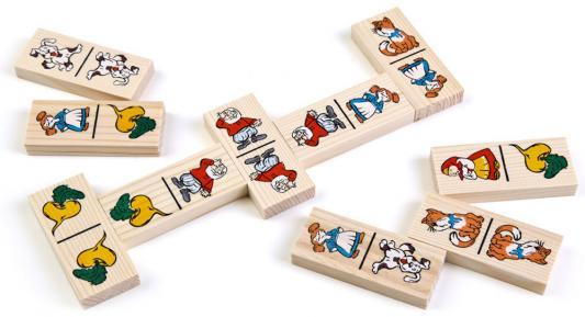 Купить Настольная игра Томик домино Репка 5555-6, Размер упаковки: 7.5 x 21.5.x 45 см., Настольные игры из дерева для детей