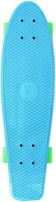 "Скейтборд Y-SCOO Fishskateboard 22"" RT винил 56,6х15 с сумкой BLUE/green 401-B"